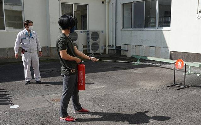 Tập huấn tránh nạn・phòng cháy chữa cháy